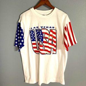 Las Vegas USA LA Gear Shirt rare Vintage red white
